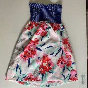 XS, Roxy, strapless floral summer dress